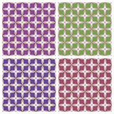 Geometric ornament. Colored backgrounds