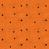 Halloween spider web seamless pattern. Vector background.