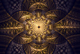 Abstract fractal fantasy wallpaper pattern.