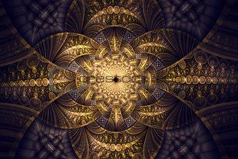 Abstract fractal fantasy wallpaper pattern.