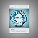 Brochures book or flyer with abstract technical rounds template