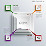 Info graphic with design squares template