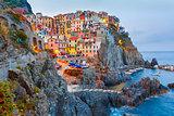 Night Manarola, Cinque Terre, Liguria, Italy