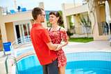 couple near the pool