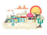 Motel flat design