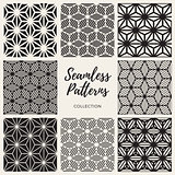Vector Seamless Cube Shape Lines Geometric Pattern Collection