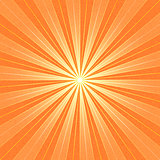 Orange sunbeam blank background