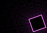 Glowing Neon Square Background