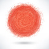 Red brush stroke in the form of a circle