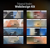 Blurred Polygonal Website Header Kit