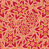 Seamless pattern with red cartoon stars