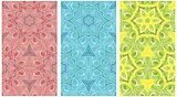 Seamless pattern set of color ornaments