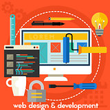 Webdesign And Development Concept