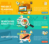 Planning Searching Analytics Advertising Concept