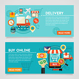 Buy Online And Delivery Concept