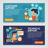 Customer and Technical Support Concept