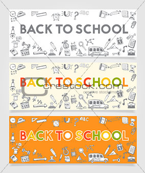 Back To School Doodle Concept