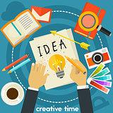 Creative Time Concept