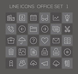 Inline Office Icons Collection