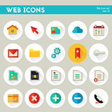 Trendy detailed web icon set