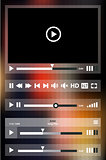 Media player template