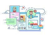 Social communication network