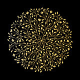 Mandala ornament, golden pattern for your design