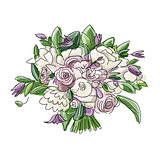 Floral wedding bouquet, sketch for your design
