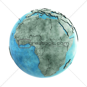 Africa on marble planet Earth