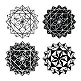 Geometric design, single abstract pattern set