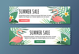 Sale banner for web the shop. Vector illyustration.