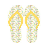 Flip flops, Slippers with floral pattern
