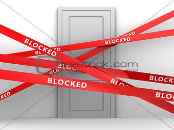 blocked room