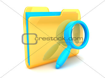 folder with magnify glass