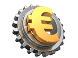 euro and gear wheel
