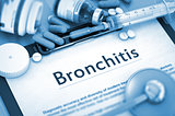 Bronchitis Diagnosis. Medical Concept.