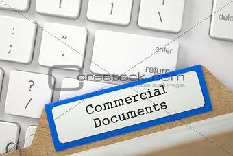 Folder Index with Inscription Commercial Documents.