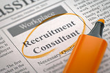 Job Opening Recruitment Consultant.