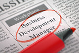 Business Development Manager Join Our Team.