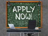 Apply Now on Chalkboard in the Office.