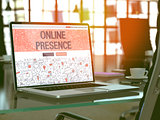 Online Presence Concept on Laptop Screen.