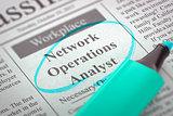 Network Operations Analyst Job Vacancy.