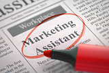 Marketing Assistant Join Our Team.