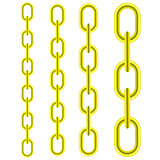 Set of Different Yellow Metal Chains