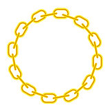 Yellow Chain Round Frame