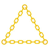 Yellow Chain Triangle Frame