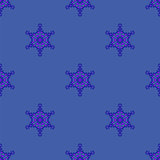 Creative Ornamental Seamless Blue Pattern