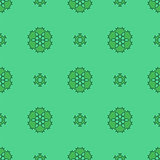 Creative Ornamental Seamless Green Pattern