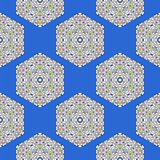 Creative Ornamental Seamless Blue Pattern.