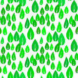Summer Green Different Leaves Seamless Pattern